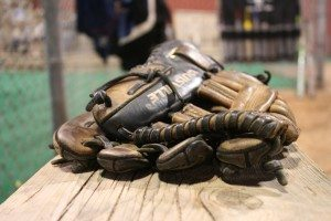 Catcher's baseball mitt at the Joseph P. Riley, Jr Park