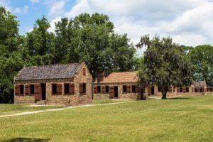 slave quarters at boone hall plantation and gardens in mount pleasant, sc, near charleston, sc