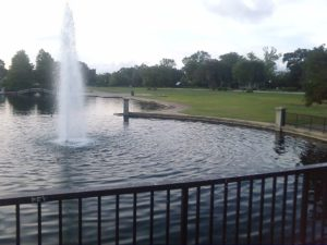 the fountain at Hampton Park in Charleston, SC