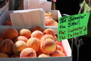South Carolina is the largest producer of peaches in the USA (not Georgia), and they're readily available in season at the Charleston Farmers Market, within walking distance of the Historic Charleston City Market