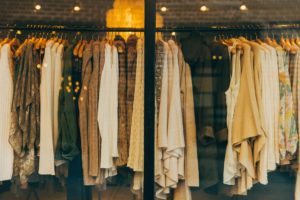 clothes on display in the best shopping in downtown charleston sc