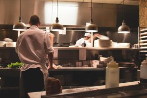 the kitchen of a romantic restaurant, visiting one is one of the most romantic things to do in charleston sc