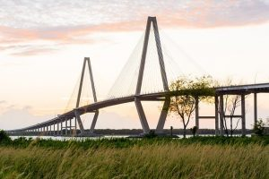 head over the ravenel bridge from downtown to get to georgetown and myrtle beach on weekend road trips from charleston sc