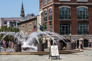 waterfront park, near vendue range and some of the best hotels in downtown charleston sc