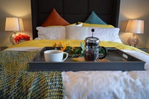 breakfast in bed at one of the most romantic bed and breakfasts in the historic district of charleston, sc