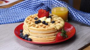 waffles served at one of the most romantic bed and breakfasts in the historic district of charleston, south carolina